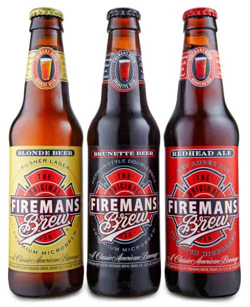 FB 3bottles.dry  525x645 Review: Firemans Brew Blonde Beer, Brunette Beer, and Redhead Ale