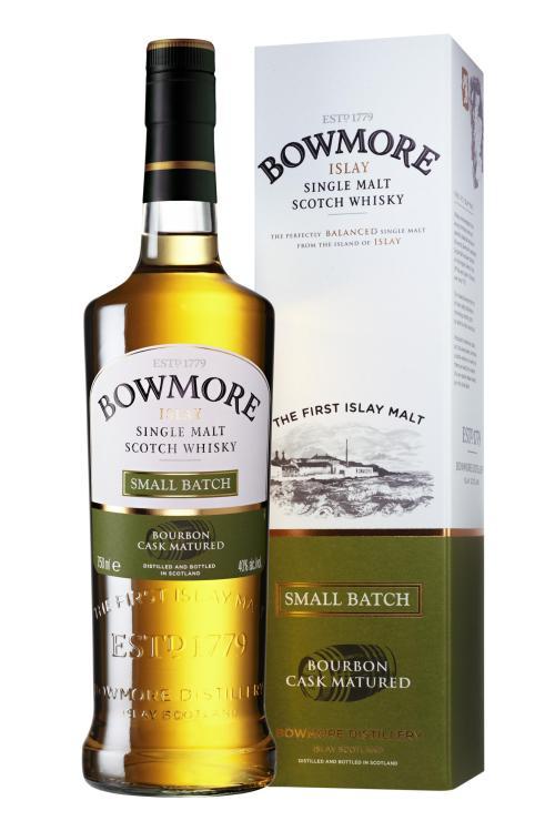 BowmoreSmallBatch BtlCart med 525x787 Review: Bowmore Small Batch Single Malt Scotch Whisky