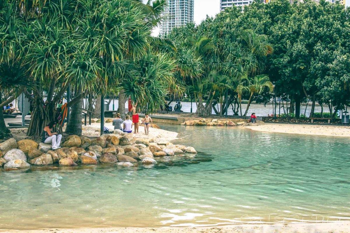 Brisbane's city beach. Australia