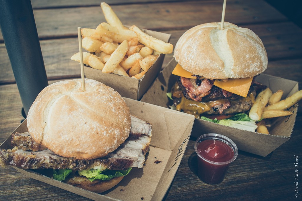 Pork Belly and Iron Chef burgers at the Tuk Tuk Burger Company in Hunter Valley, NSW