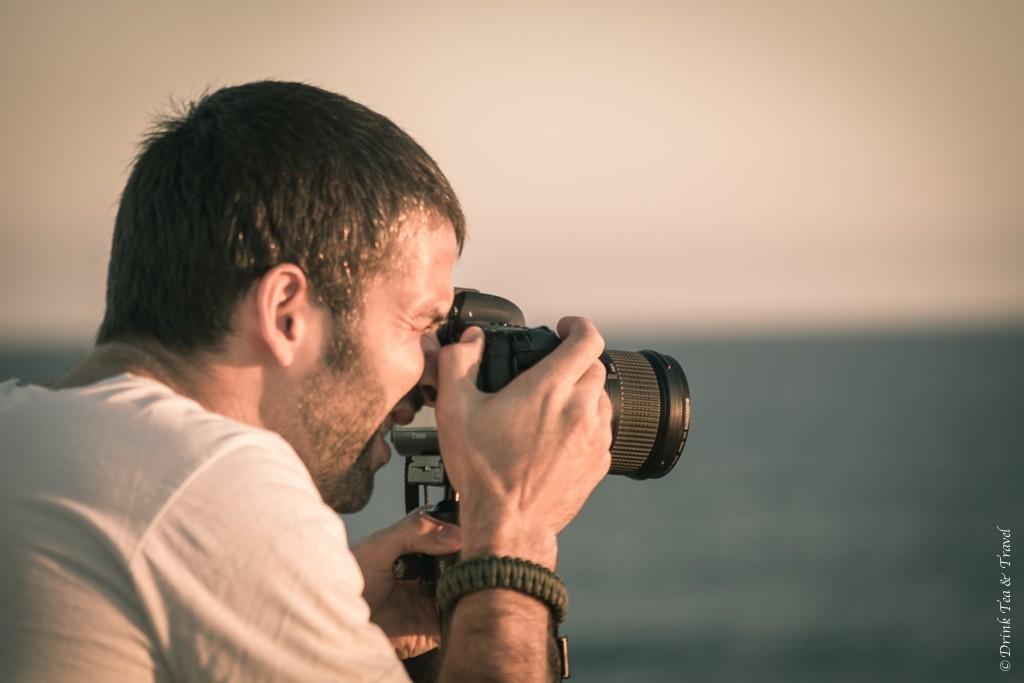 Max snapping away at sunset. Bar Beach. Newcastle, NSW Australia