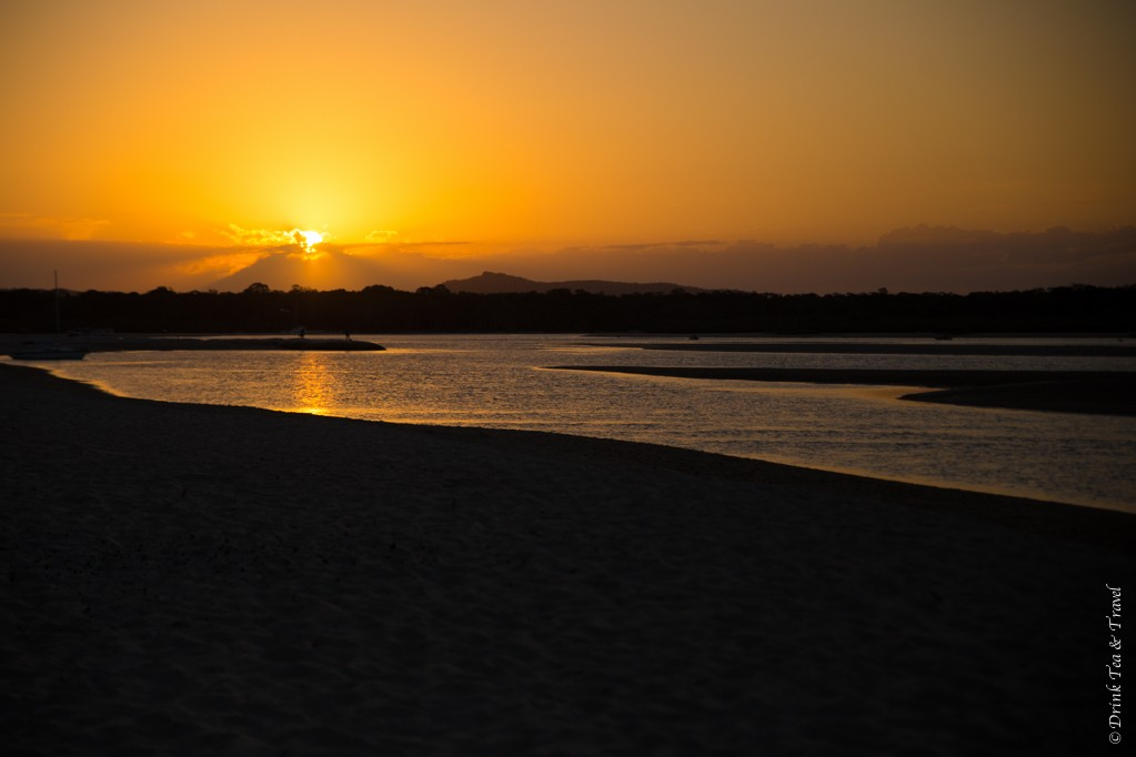 Sunset over Noosa River