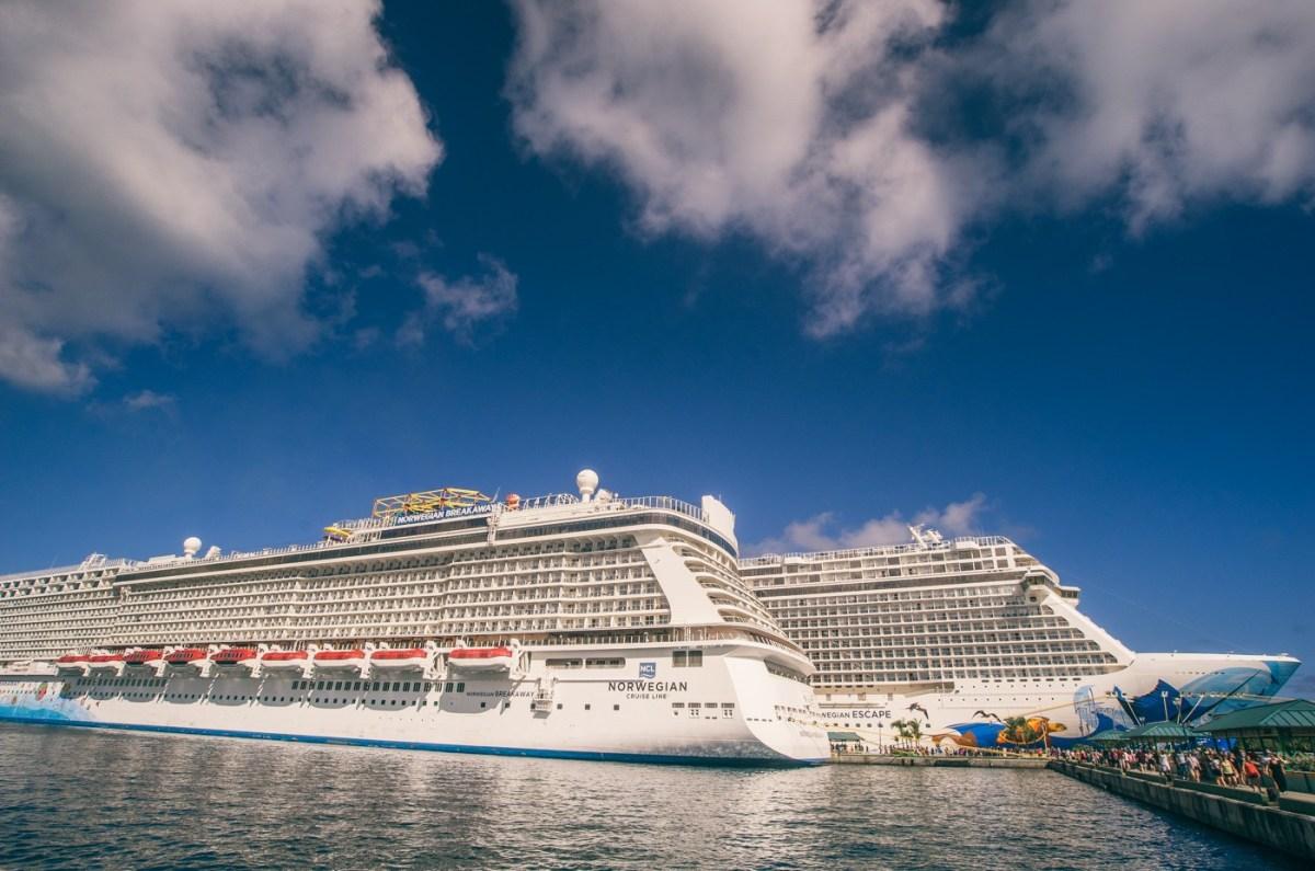Norwegian Cruise line boats docked in Nassau. Norwegian escape. Norwegian Breakaway