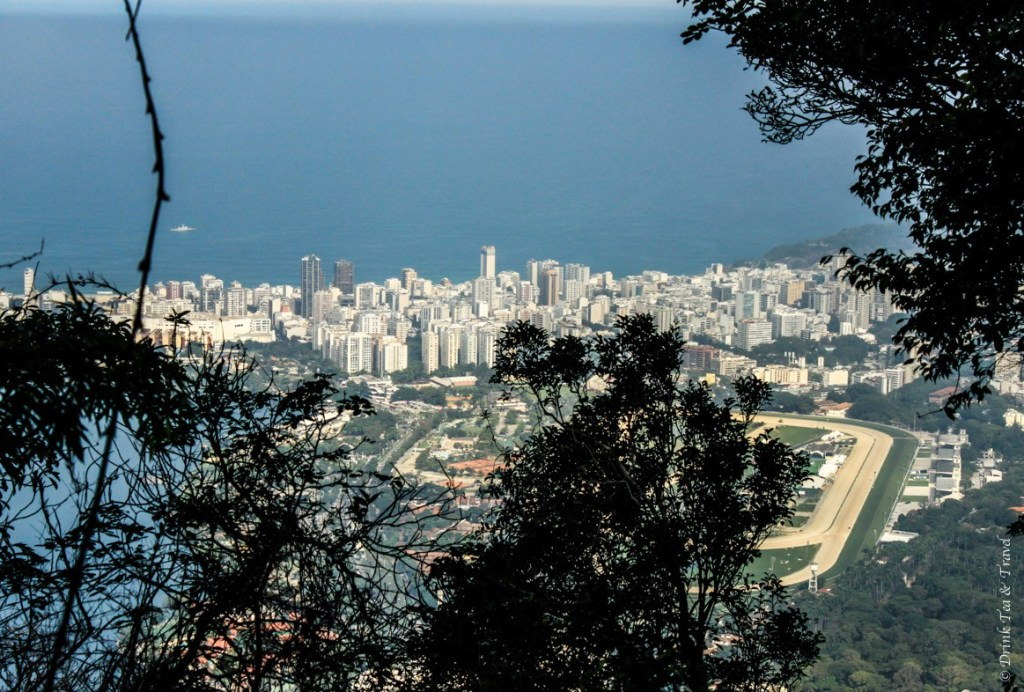 View of Rio de Janeiro from the trail to Christ the Redeemer