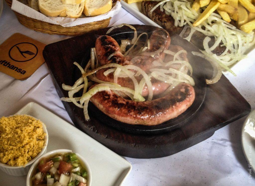 Brazilian dishes: Linguiça calabresa