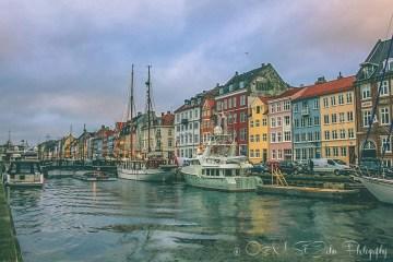 Nyhavn waterfront, Copenhagen. Denmark