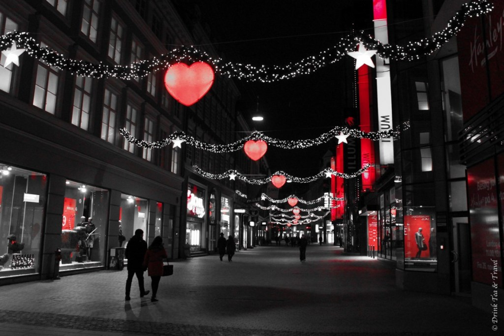 Christmas decorations along Strøget