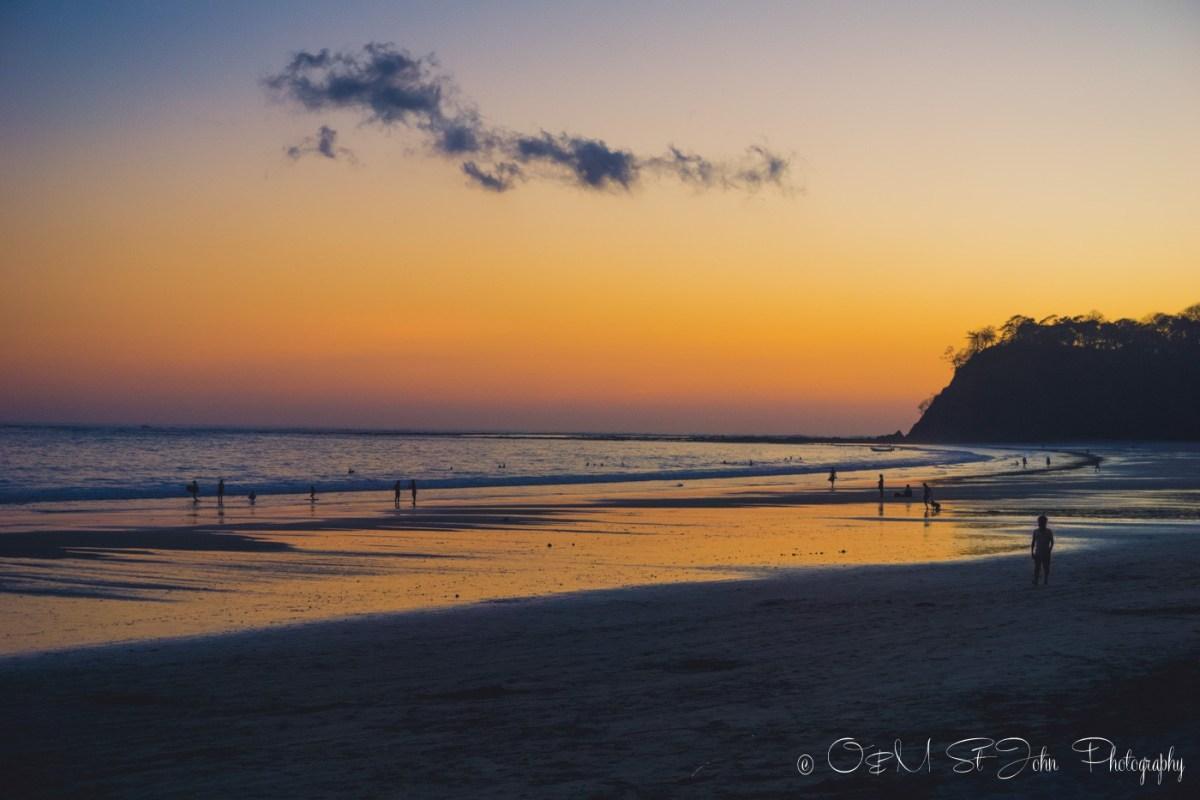 Sunset on Playa Samara. Guanacaste. Costa Rica