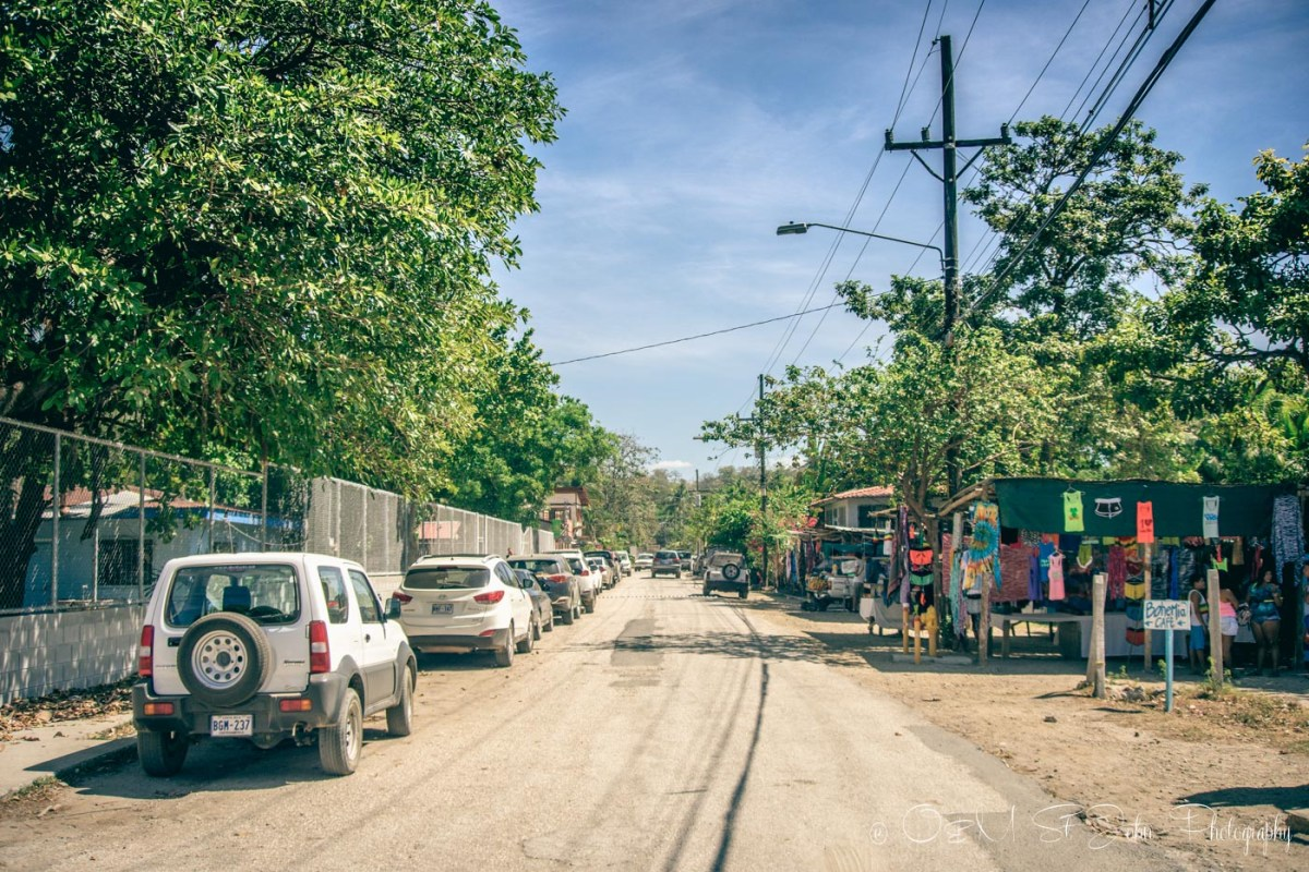 Street in Sámara, Guanacaste. Costa Rica