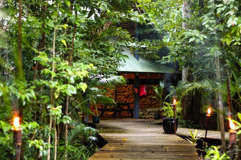 Boardwalk to the restaurant to PK's Jungle Village