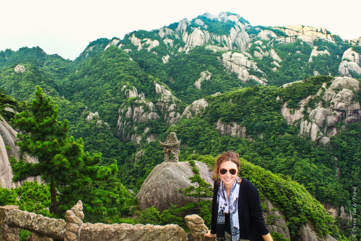 Oksana in Huangshan Mountains, China