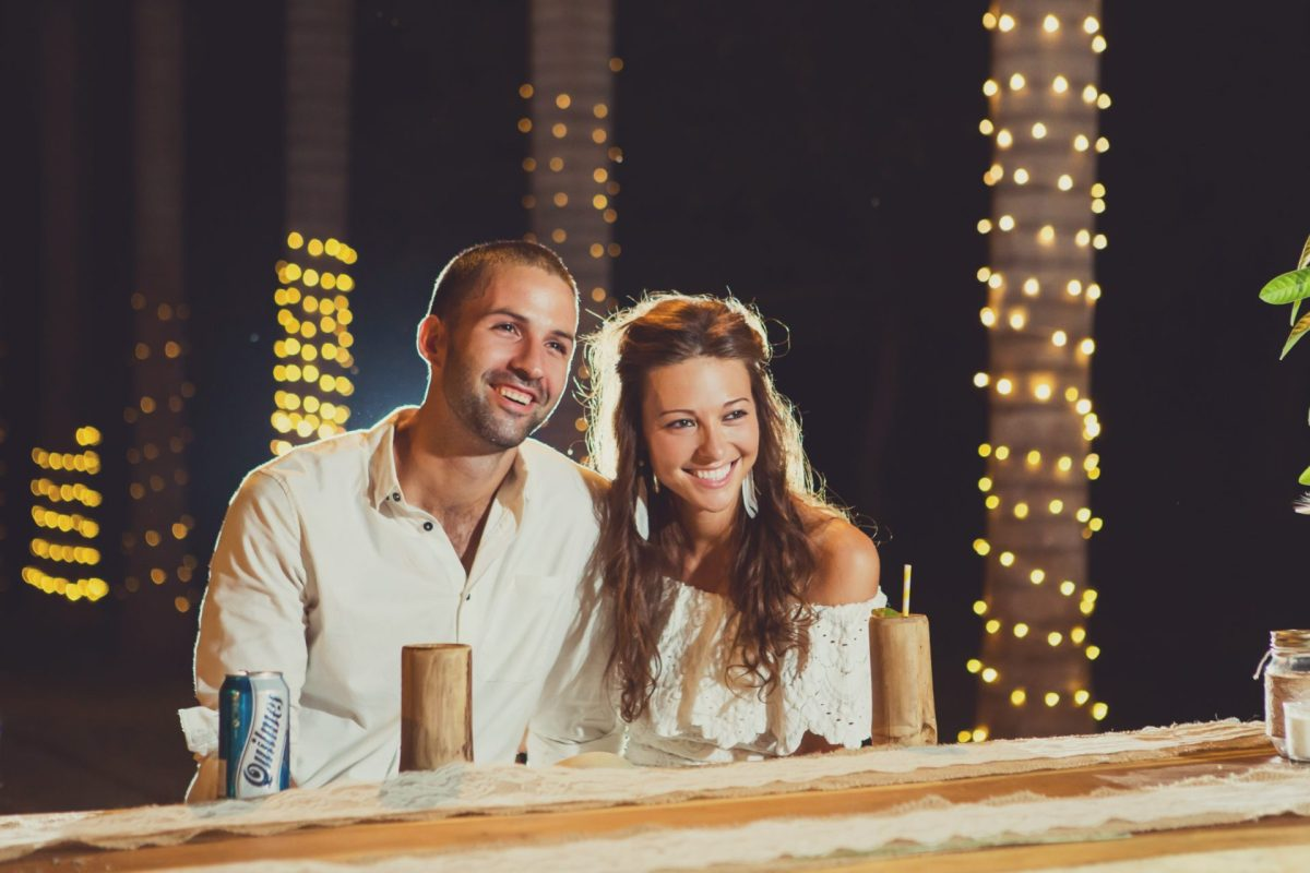 Max & Oksana at wedding reception. Costa Rica