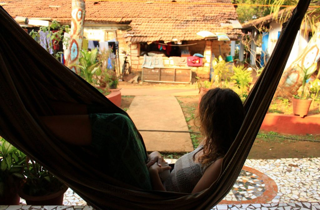 India travel: Inside the hammock in Goa, India