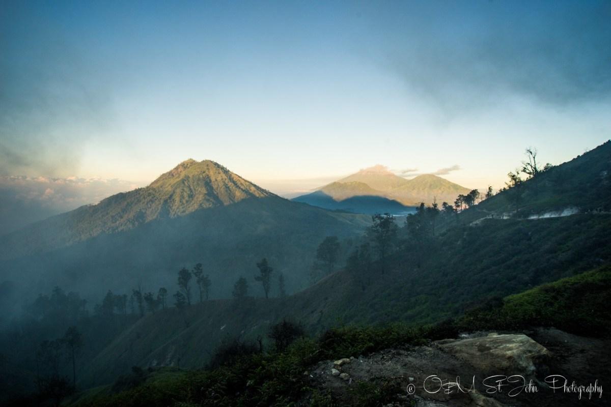 Volcanic peaks surrounding Ijen Plateau. East Java. Indonesia
