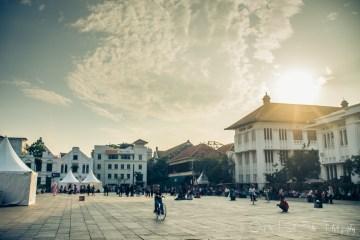 Taman Fatahilah - main square in Old Jakarta. Java, Indonesia