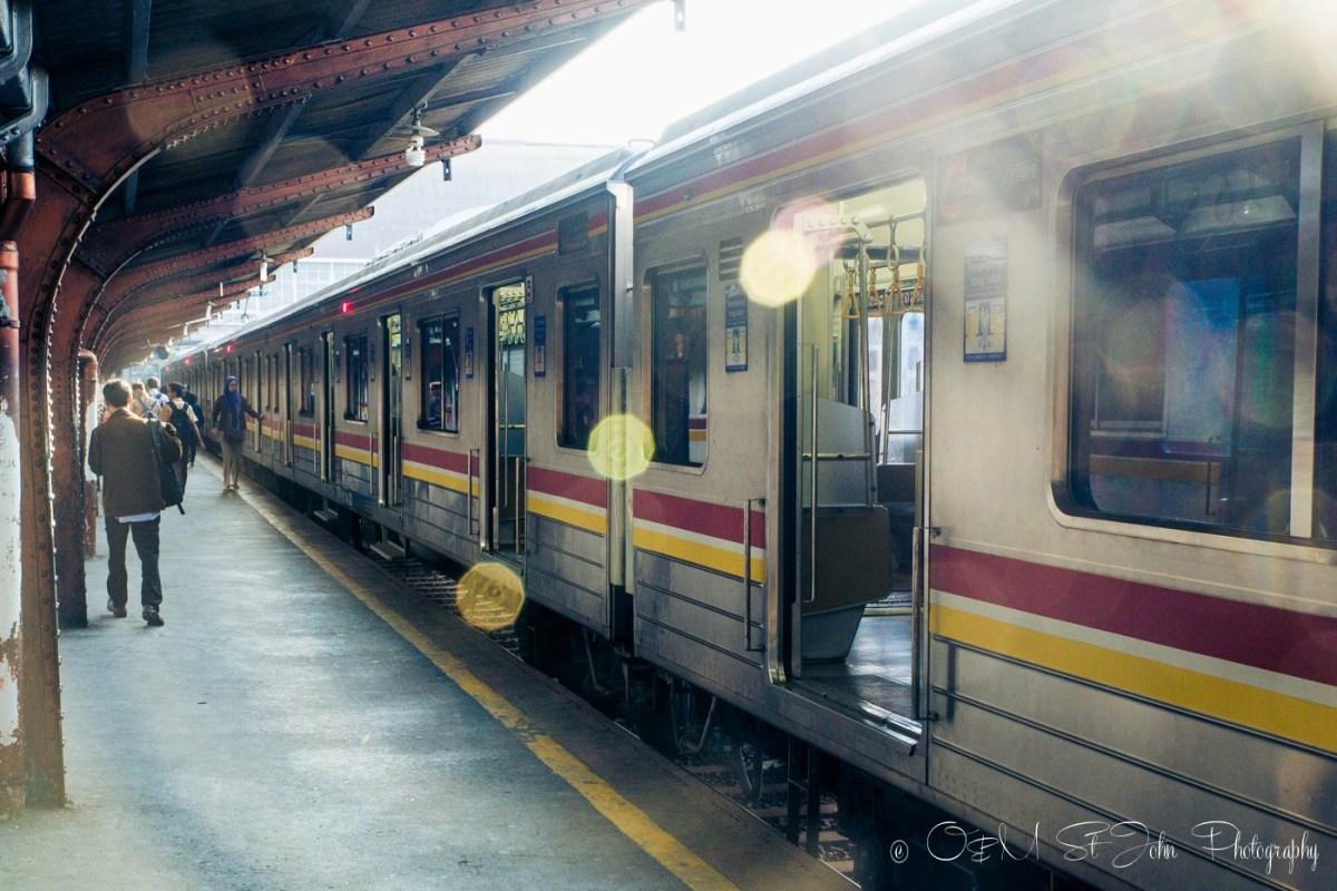 Our train awaits. Jakarta, Java Indonesia
