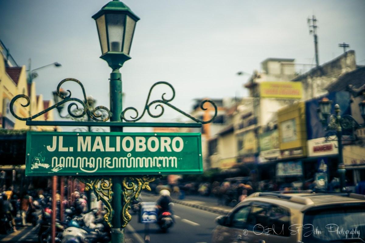 Jalan Malioboro, popular shopping promenade in Yogyakarta. Java. Indonesia