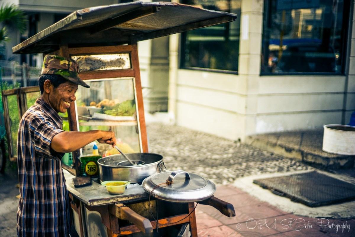 One of the many small street food stalls near our hotel on Jalan Ponwocinatan, Yogyakarta, Java, Indonesia