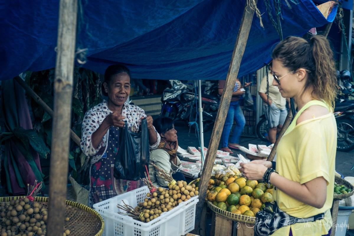 Buying my daily dose of fruit at a stall on Jalan Poncowinatan, Yogyakarta, Java, Indonesia