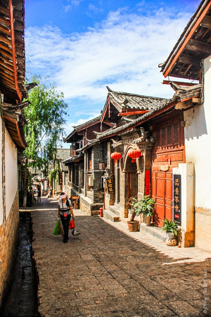 Local woman on the street in Lijiang, China