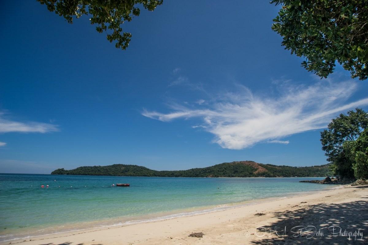 Beach at Mañana Borneo Resort. Sabah. Malaysia