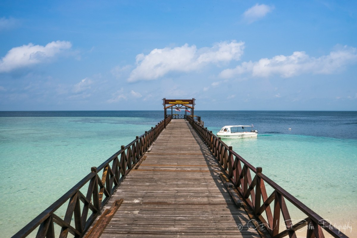 Pier on Sipadan Island. Sabah. Malaysian Borneo