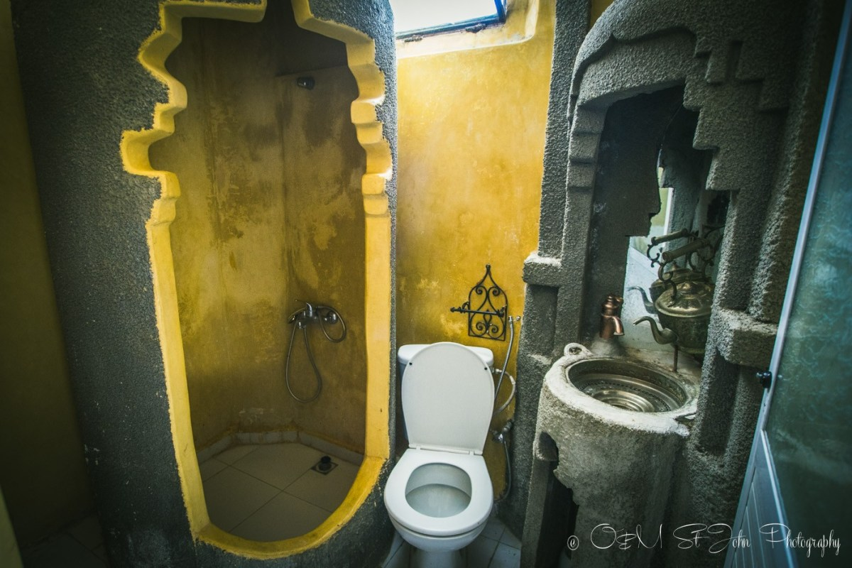 Ensuite bathroom in Maison Hotel, Chefchaouen, Morocco