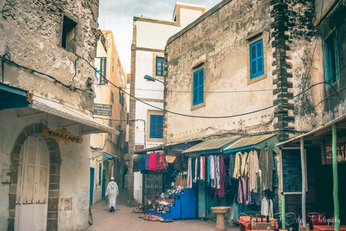 Shops in the Essaouira medina. Morocco