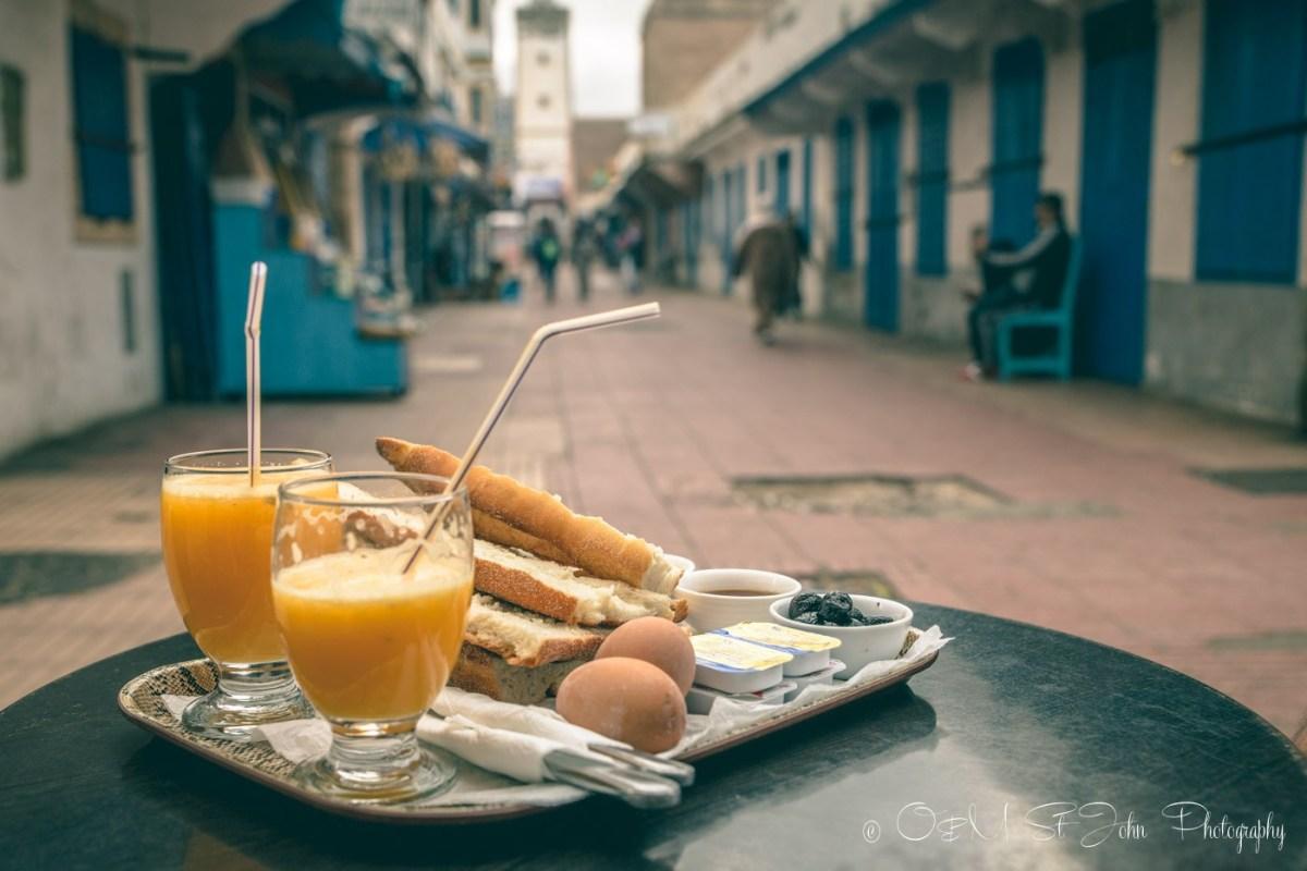 Best breakfast in Essaouira. According to us. Dar Mounia, Morocco