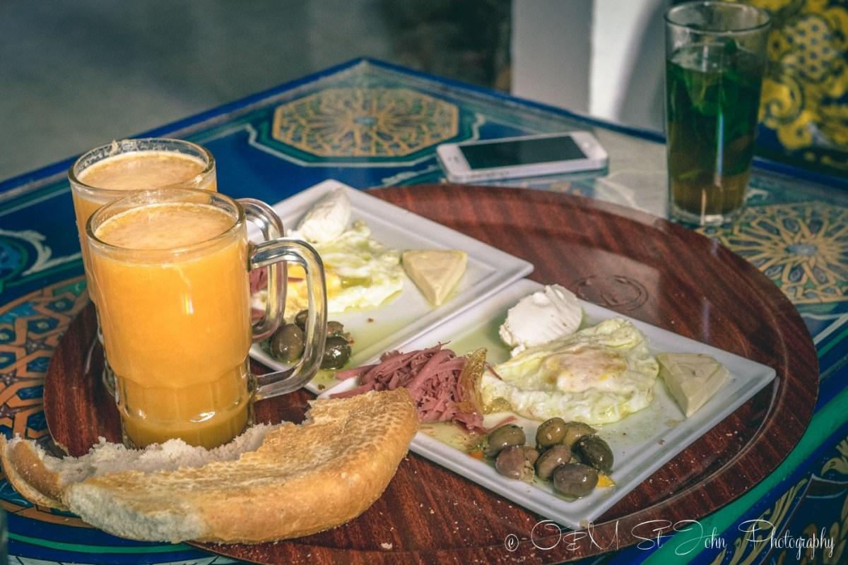 Moroccan food: breakfast