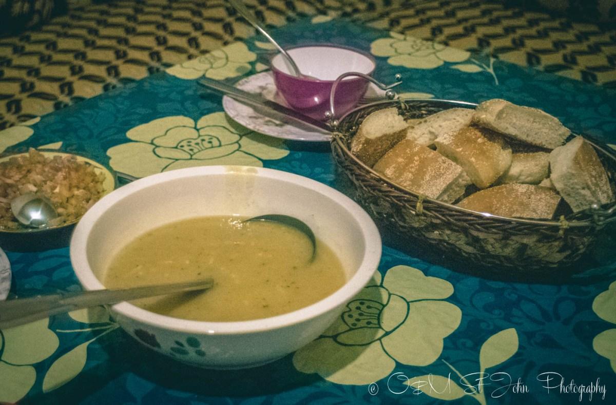Moroccan food: harira soup.