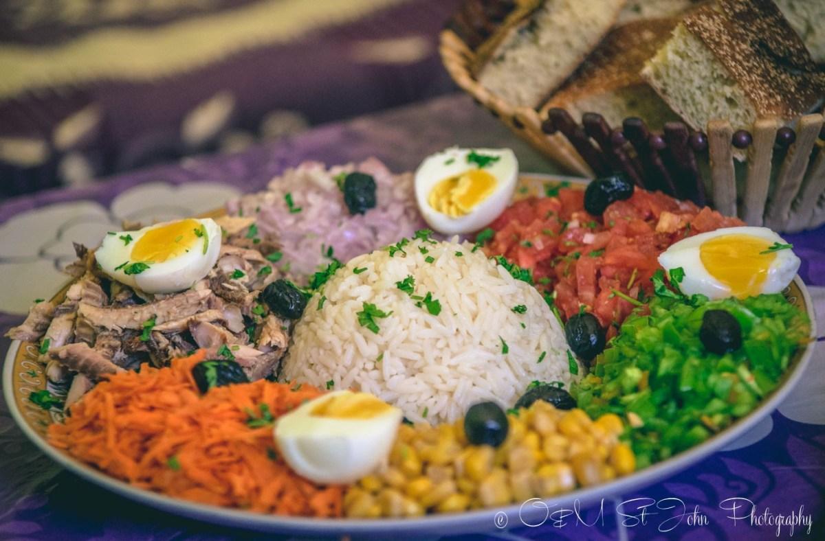 Moroccan food: mixed salad