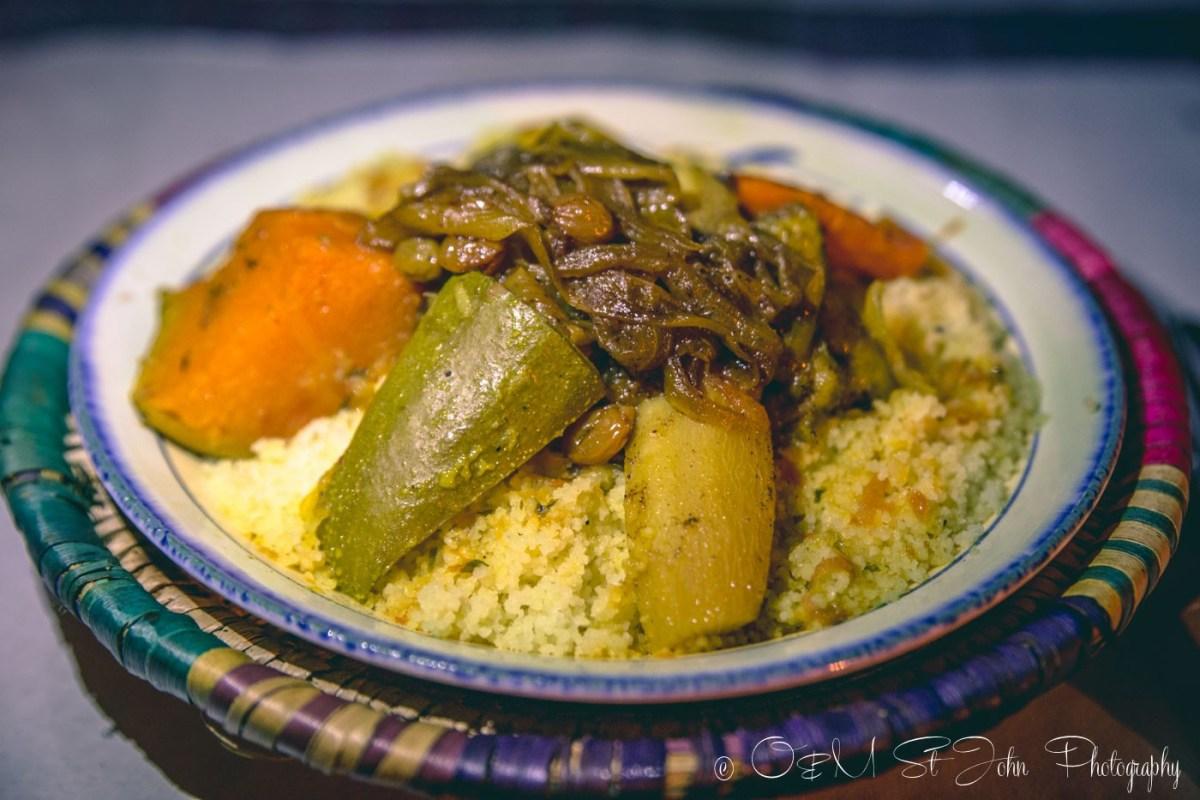 Moroccan food: Vegetarian couscous