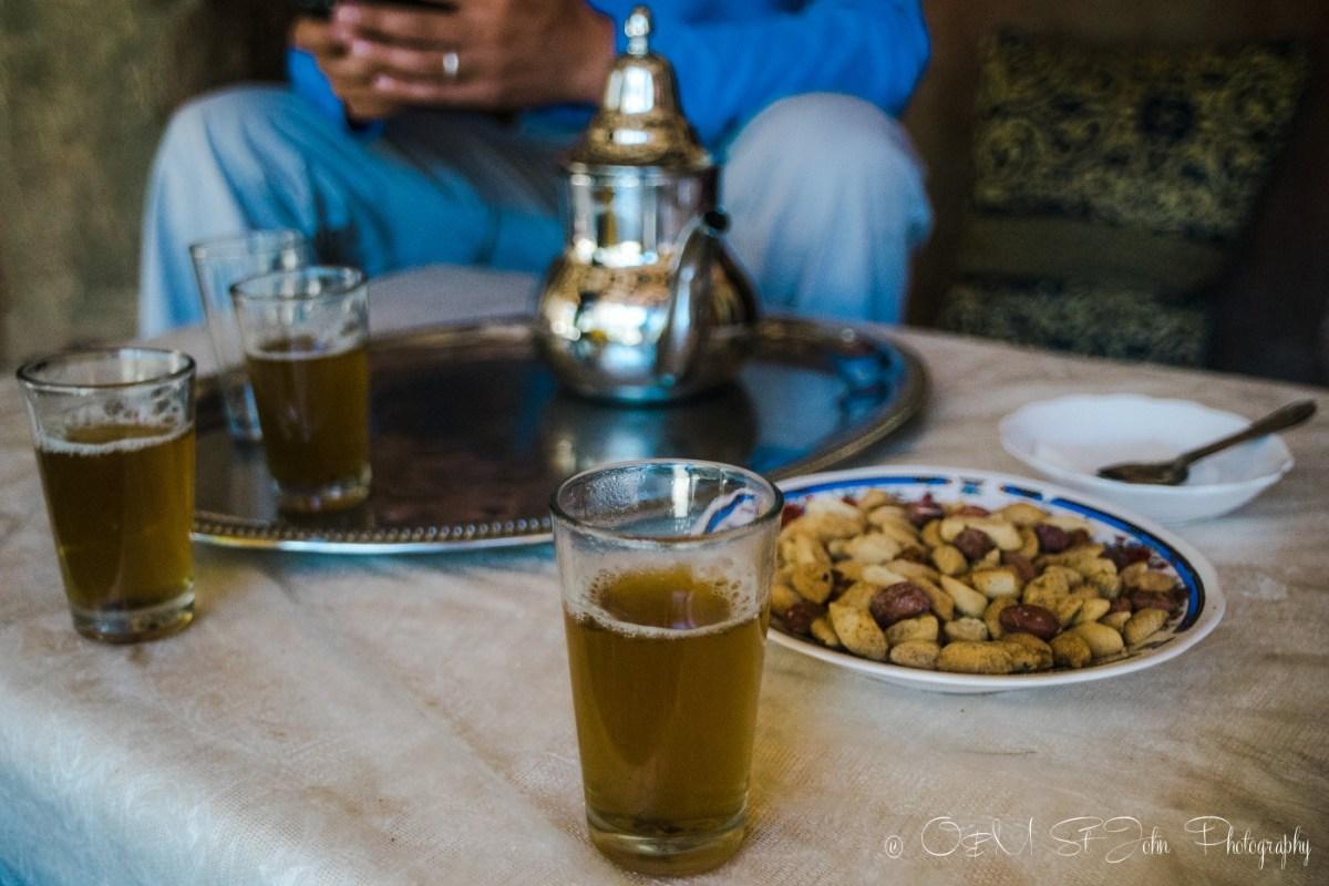 Moroccan welcome tea. Morocco