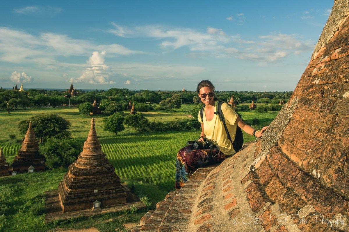 On top of a pagoda in Bagan. Myanmar