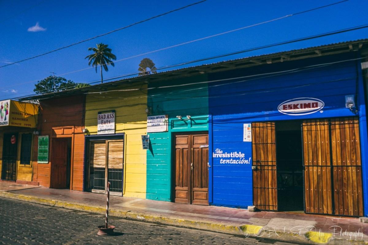 Colourful houses in San Juan del Sur. Nicaragua