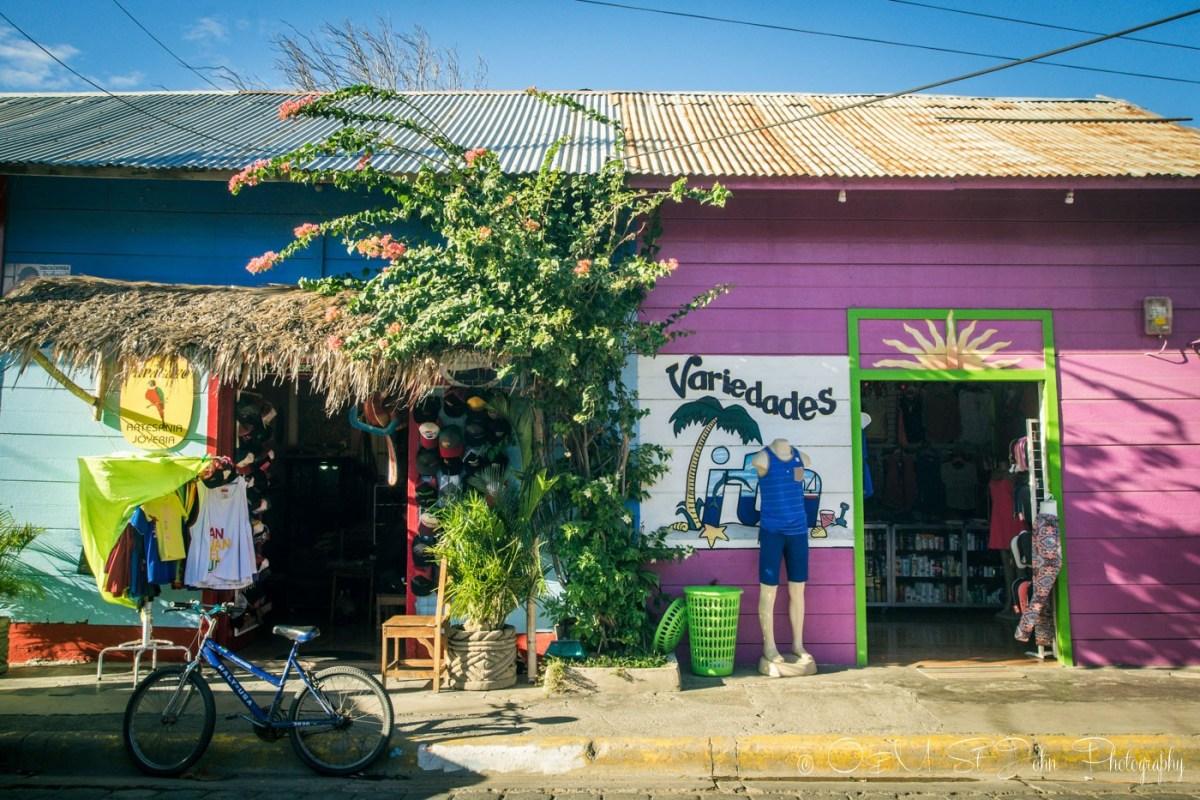 Shops line the streets in San Juan del Sur. Nicaragua