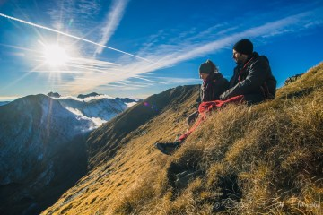Oksana & Max in Făgăraș Mountains, Romania