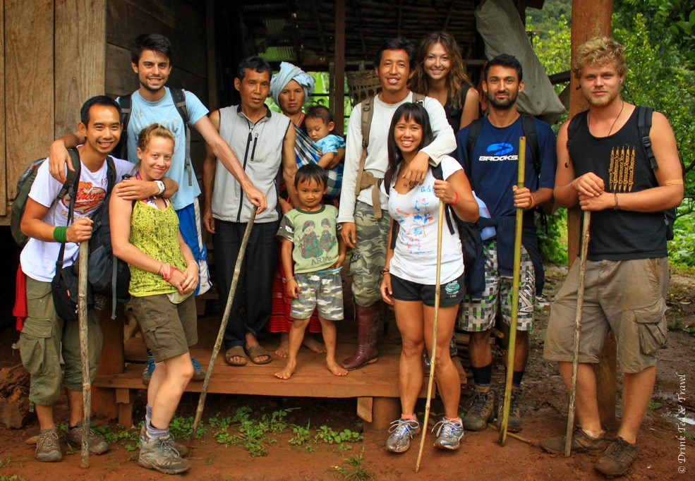 At the Hill Tribe home stay in Northern Thailand
