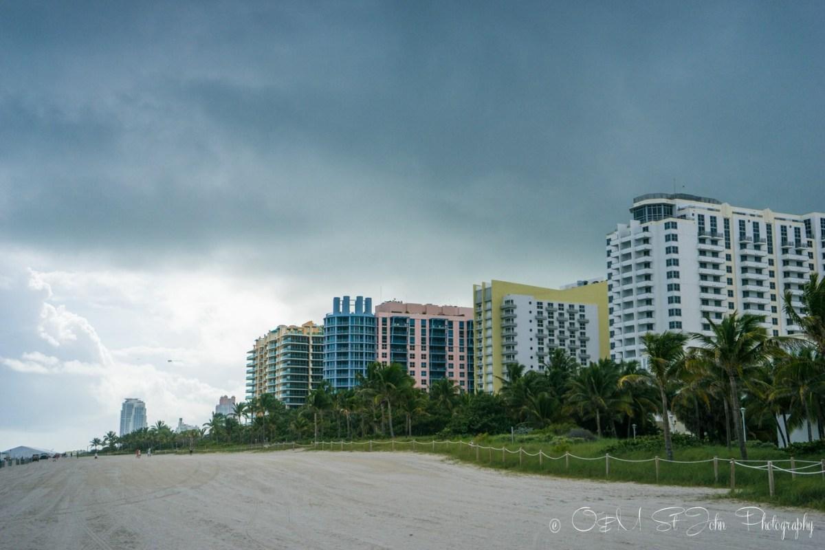 Storm brewing over Miami Beach, Florida USA