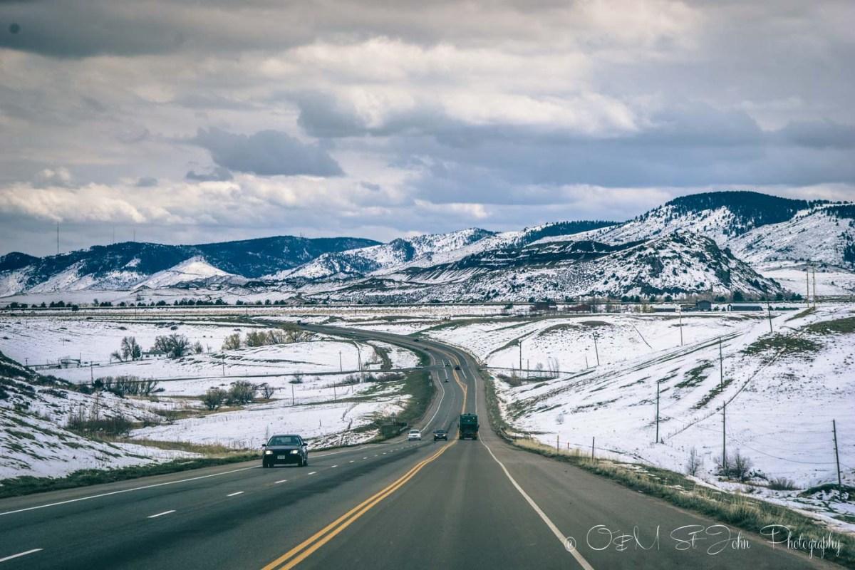 Beautiful road ahead. Colorado. US