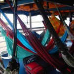 27Jul14 Day264 - Hammocks on deck while cruising the Amazon River