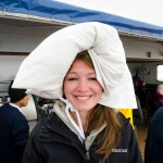 Ellen's Antarctica themed hat