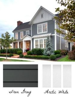 White Exterior Home Color Combination Exterior Home Design Color Driven Iron Hardieplank Andarctic Hardietrim Batten Boards