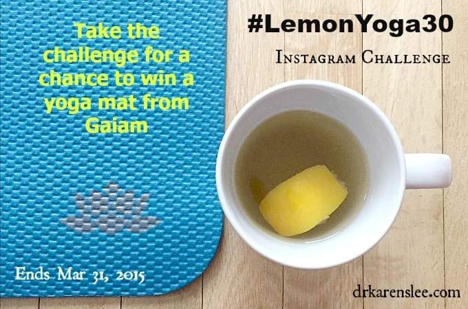 Yoga and Lemon Tea Instagram Challenge – #lemonyoga30