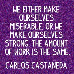 Carlos Castaneda Make Miserable
