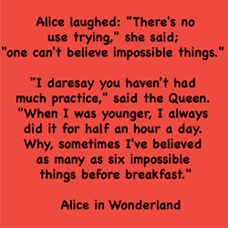 Alice in Wonderland Impossible