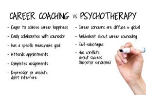 career coaching vs psychotherapy washington dc psychologist