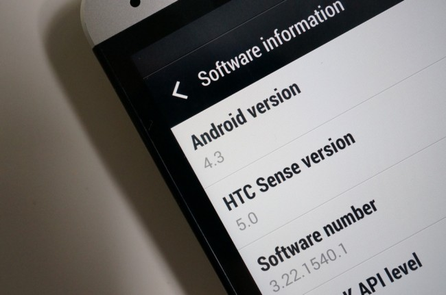 htc one 4.3 update