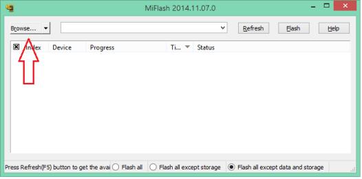 Download / install mi flash tool